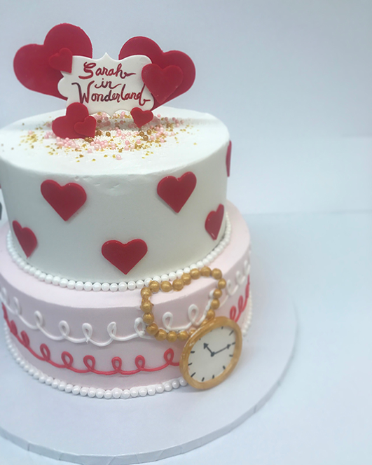Tiered Queen of Hearts Cake
